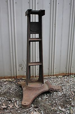 Antique Cast Iron Pedestal Base E Mills Kettering Table Industrial Machine