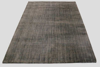 New Ghadamian Rugs Milan Hand Made Soft Polyester Rug 155cm x 225cm Grey