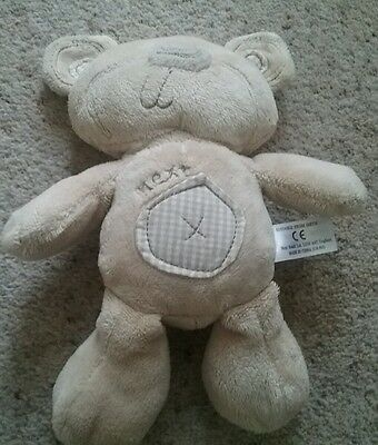 Next. Beige Patch Teddy Bear. Baby Soft Toy Comforter.