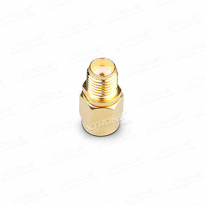 RP SMA Male Plug to SMA Female Jack Straight RF Coax Adapter Connector UK