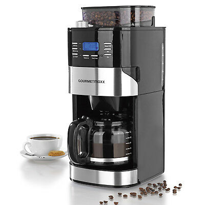kaffeemaschine kaffeeautomat mit mahlwerk f r bohnen und pulver timer 10 tassen eur 79 90. Black Bedroom Furniture Sets. Home Design Ideas