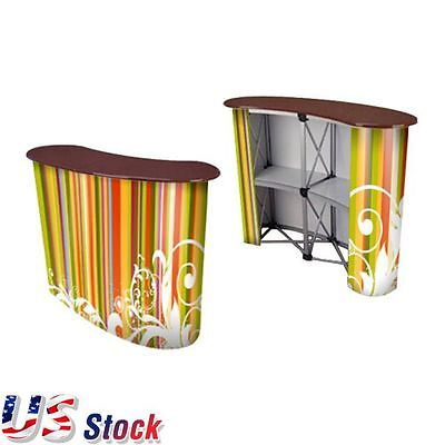 USA Stock - Big Size Magnetic Pop Up Counter Trade Show Display Counter Table