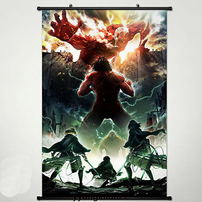 Hot Shingeki no Kyojin Attack on Titan Anime Wallscroll Stoffposter 40x60cm
