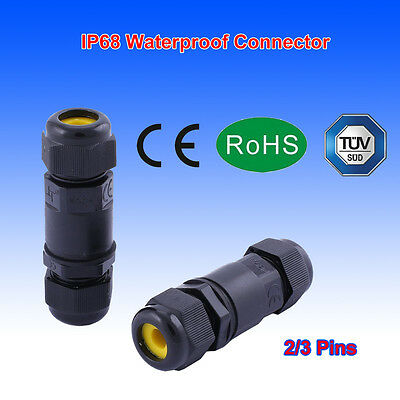 2/3 Pins IP68 Waterproof Electrical Cable Wire Underground Line Sleeve Connector