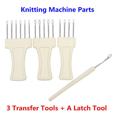 3 Transfer Tools + A Latch Tool Set For Bulky Gauge 9mm Knitting Machine Brother
