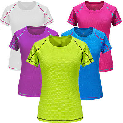 Fashion Women'S Quick-Drying T-Shirt Outdoor Ladies Running Elasticity Tops