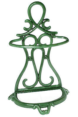 Antique Enameled Cast Iron Art Nouveau Umbrella Stand Made in France