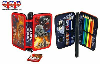 Star Wars Filled Pencil Case, Perfect For Children 2 Layer Pencil Case!
