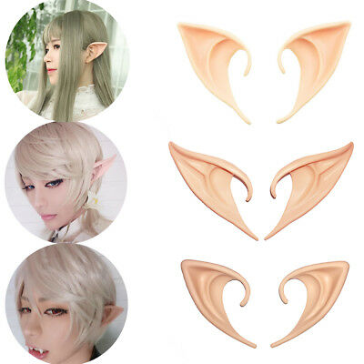 1 Pair Anime Cosplay Elf Ears Pointed Prosthetic Tips Ear Halloween Costume Prop