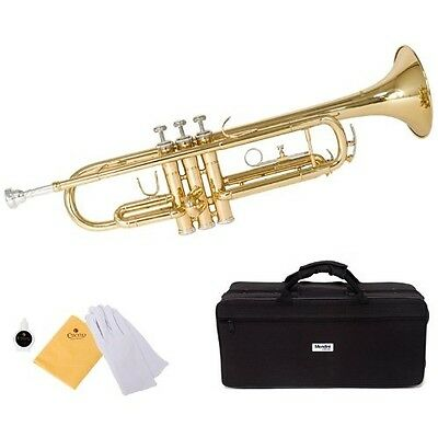 Mendini by Cecilio MTT-L Trumpet, Gold, Bb. Free Shipping