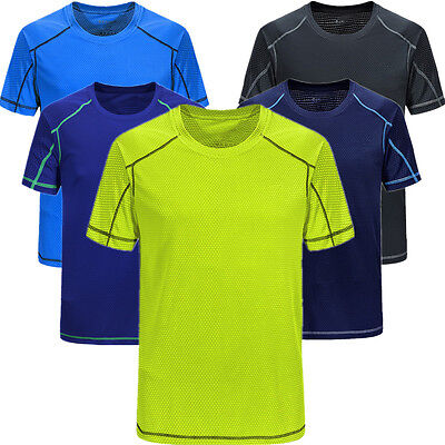 Fashion Men'S Quick-Drying T-Shirt Outdoor Sprots Elasticity Tops Short Sleeves