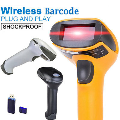 Wireless USB Laser Wifi Handheld Visible Laser POS Cordless Barcode Scanner Read