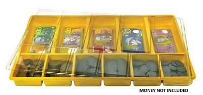 Play Money Tray with Lid - Maths Games Teacher Resources Numeracy Kids Learning