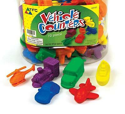Vehicle Counters 72 pieces Maths Games Teacher Resources Transport Montessori
