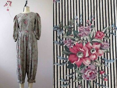 80s Floral Romper Playsuit Jumpsuit Summer Sm Buy 3 + items for FREE Post