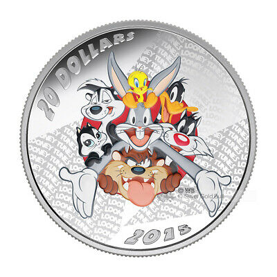 1 oz 2015 Looney Tunes™ Merrie Melodies Silver Proof Coin