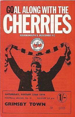 Bournemouth v Grimsby Town, 22 August 1970, Division 4