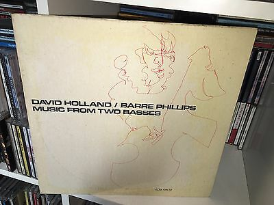 David Dave Holland Barre Phillips Music From Two Basses Lp Ecm 1971 Ex+/mint