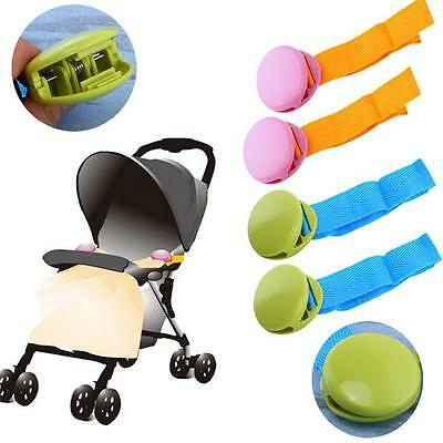2Pcs Baby Pushchair Buggy Stroller Blanket Fasteners Clips Security Accessories