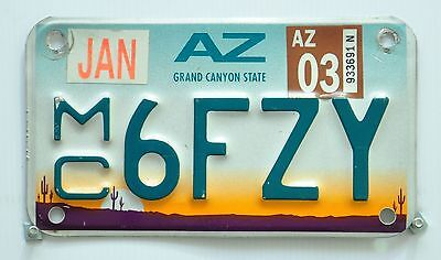 ARIZONA USA MOTORCYCLE number plate/License plate/Nummernschild.