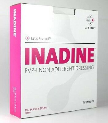 Inadine sterile dressing 9.5cm x 9.5cm multi listing clearance