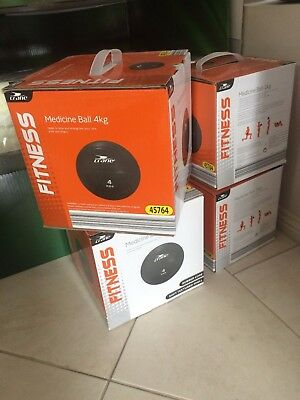 Medicine balls, high quality solid rubber. 4kg, brand new in box