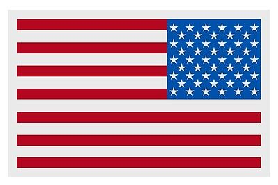 """American Flag REVERSED Very Small Reflective Helmet Decal 1.25"""" x 2"""" approx.)"""