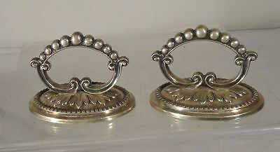 Pair of Antique Silverplate Tureen Cover Handles Dinner Service English European