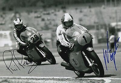 Giacomo Agostini and Phil Read Hand Signed MV Agusta 12x8 Photo MOTOGP 2.