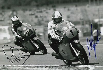 Giacomo Agostini and Phil Read Hand Signed MV Agusta 12x8 Photo MOTOGP 4.