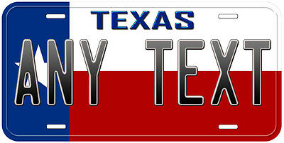 Texas State Flag Personalized Any Text Novelty Car License Plate