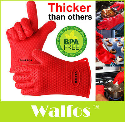1PC Silicone Kitchen Glove Heat Resistant Oven Bbq Cooking Mitts Grill Gloves