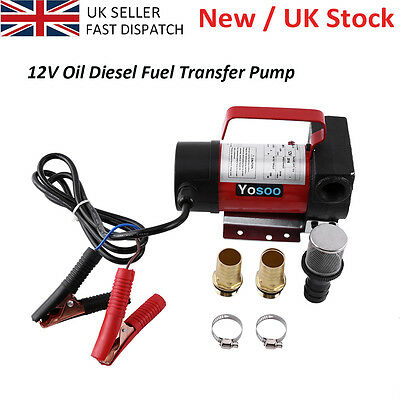 DC 12V Electric Oil Transfer Fuel Fluid Diesel Pump 160W 40L/min Car UK Delivery