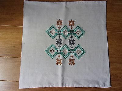 Vintage cross stitch hand embroidered Cushion cover
