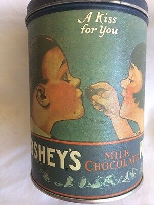 A Vintage Style Hershey's Milk Chocolate Kiss For You Tin .