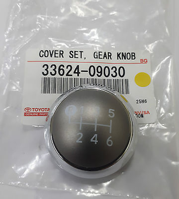 Toyota Yaris 6 Speed Chrome Gear Knob Top 33624-09030