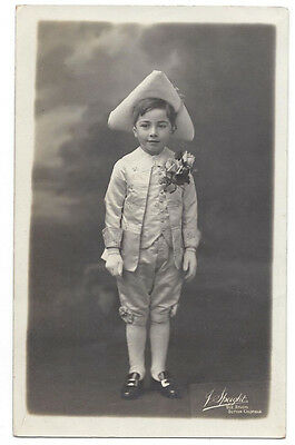 Boy in Theatrical Costume RP Postcard by Speight of Sutton Coldfield, Unposted