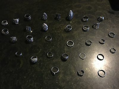 150 grams solid silver wear or scrap marked 925 or sterling rings
