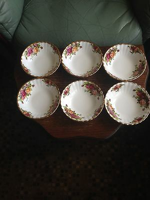 6 Royal Albert Old Country Roses Desert Bowls
