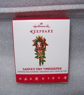 2016 Hallmark Keepsake Miniature Christmas Ornaments Santa's Tiny Timekeeper Nib