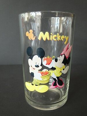 Disney altes Glas 80 iger Micky + Minnie Maus Mickey Mouse Trinkglas