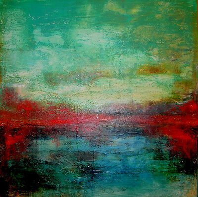 ABSTRACT MODERN CANVAS PAINTING CONTEMPORARY WALL ART  BRIAN MESSINa 2017