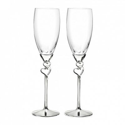 Hortense B Hewitt 10011 Entwined Hearts Flutes. Delivery is Free