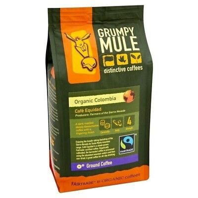 Grumpy Mule Fairtrade Organic Colombia Coffee (227g). Shipping Included