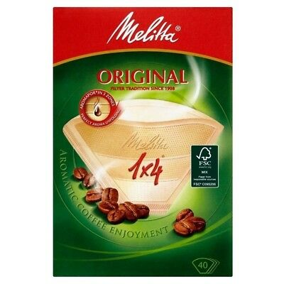Melitta Classic Four Cup Coffee filter Papers (40). Free Delivery