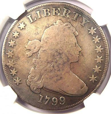 1799 Draped Bust Silver Dollar $1 - Certified NGC Good Details - Rare Coin!