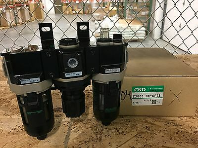 CKD F.R.L. Filter Regulator Lubricator C3000-8N-CFT8
