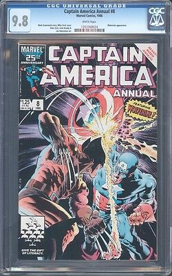 Captain America Annual #8 Cgc 9.8 Nm/mt Wp Mike Zeck Cover Art
