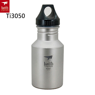 Keith 400ml Titanium Kettle Sports Water Bottles Outdoor Hiking Portable