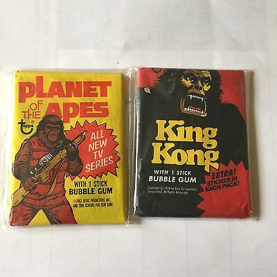 Topps Planet Of The Apes & King Kong Unopened Wax Packs Lot Of 2